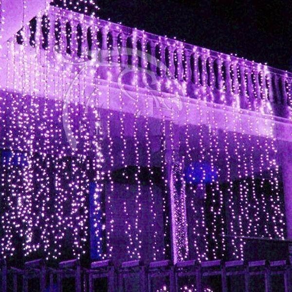 Cortina luces led navidad 360 bombillos 10 metros por for Cortinas con luces