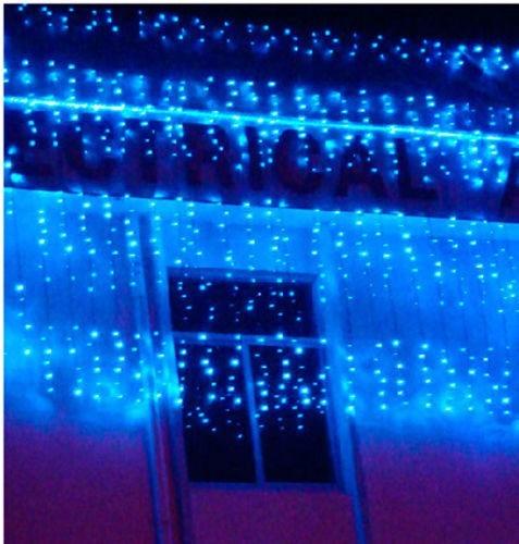 Cortina luces led navidad 360 bombillos 10 metros por for Cortina de luces led