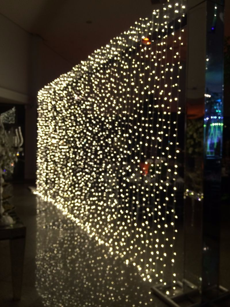 f38ffcdb6bc cortina luz dourada led 3 m x 3 m pisca pisca 110 v 300 led. Carregando  zoom.