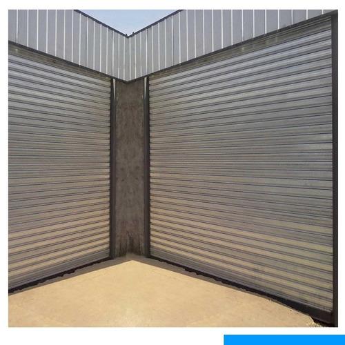 cortina metálica de 3.00 x 3.00 de chapa galvanizada y guias