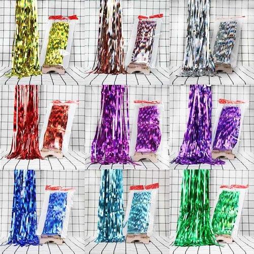 cortina metalizada colores hora loca fiesta eventos