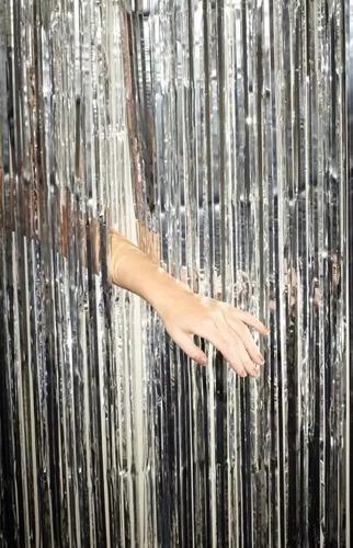 cortina metalizada decoración guirnalda fotos deco