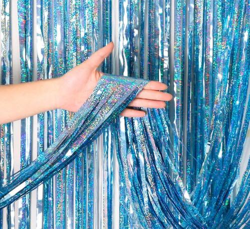 cortina metalizada holografica laser cotillon x color