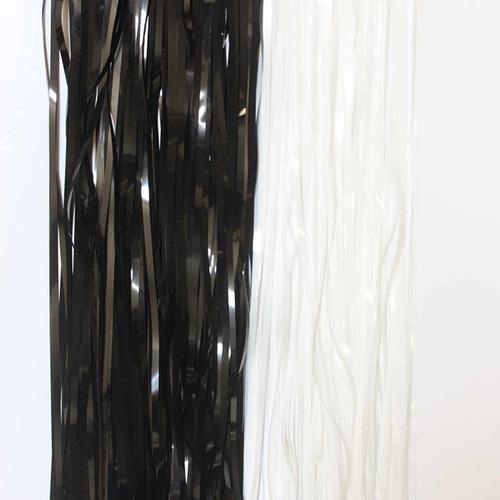cortina metalizada negra  2 metros altua x 1 ancho black