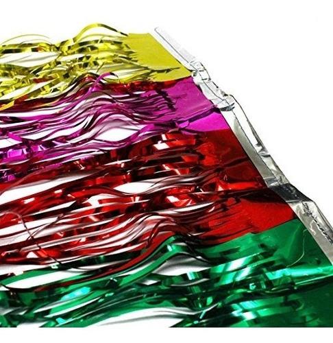 cortina metalizada para fiestas hora loca fiesta arlequin