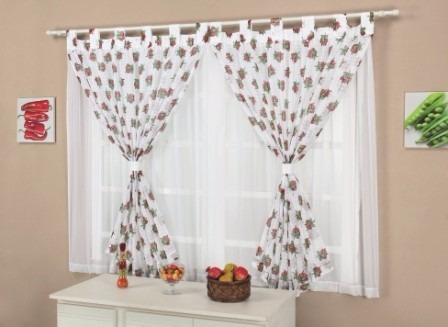 cortina milene 2m para cozinha