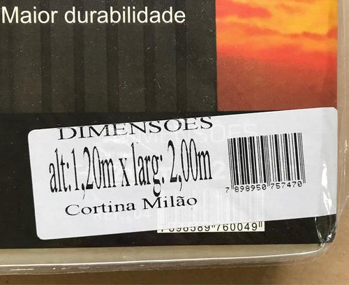 cortina milão para cozinha (bege/marrom) estampa: chá
