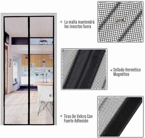 cortina mosquitera magnética para puertas 100x210 cm