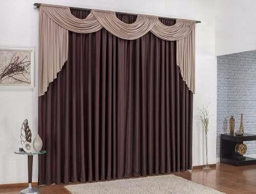 cortina nathalia 2,00m x 1,70m tabaco com avelã