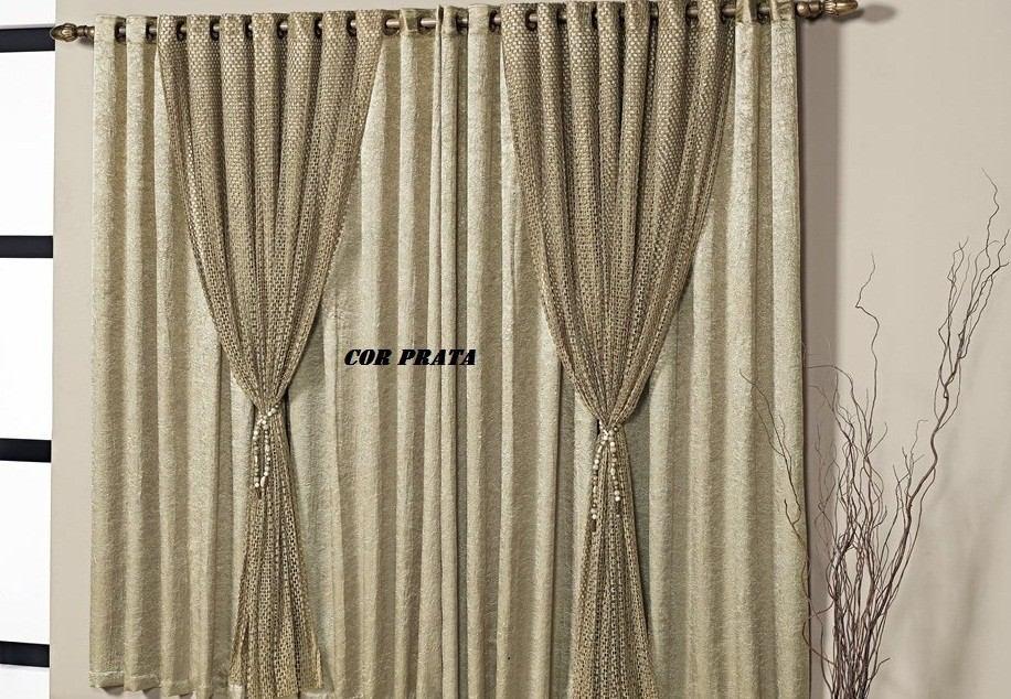 Cortina nix quarto e sala 4 metros r 699 00 em for Modelos de cortinas para sala 2016