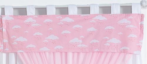 cortina nuvens quarto infantil bebê 2mts x 1,70mts