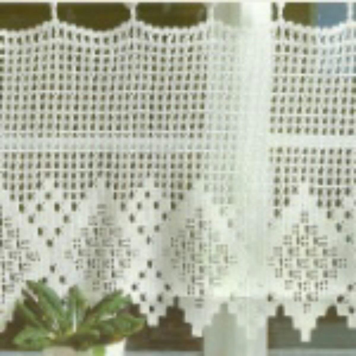 Cortina o cenefa a crochet a pedido en mercado for Modelos de cenefas para cortinas