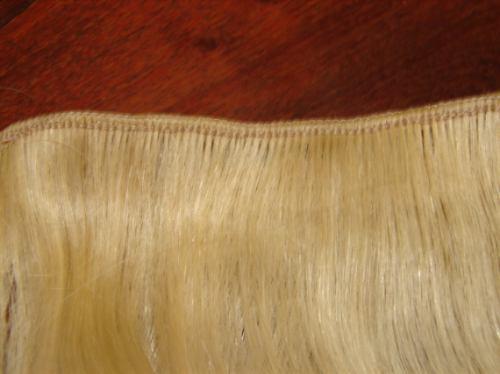 cortina o extensiones platinada 60cm