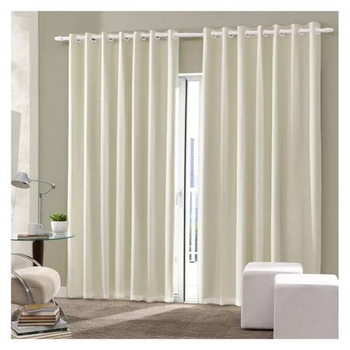 cortina oxford de sala/quarto 300x180 creme/ promoção