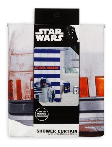 cortina p baño star wars r2d2 galaxias original hottopic