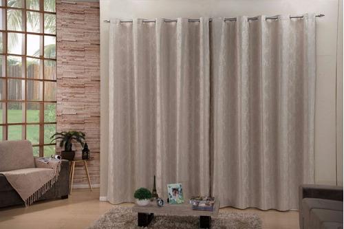 cortina p quarto ou sala 4,00 metros com blackout no tecido