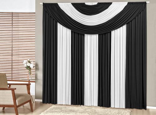 cortina p quarto ou sala de 6 mts em malha em 12x sem juros