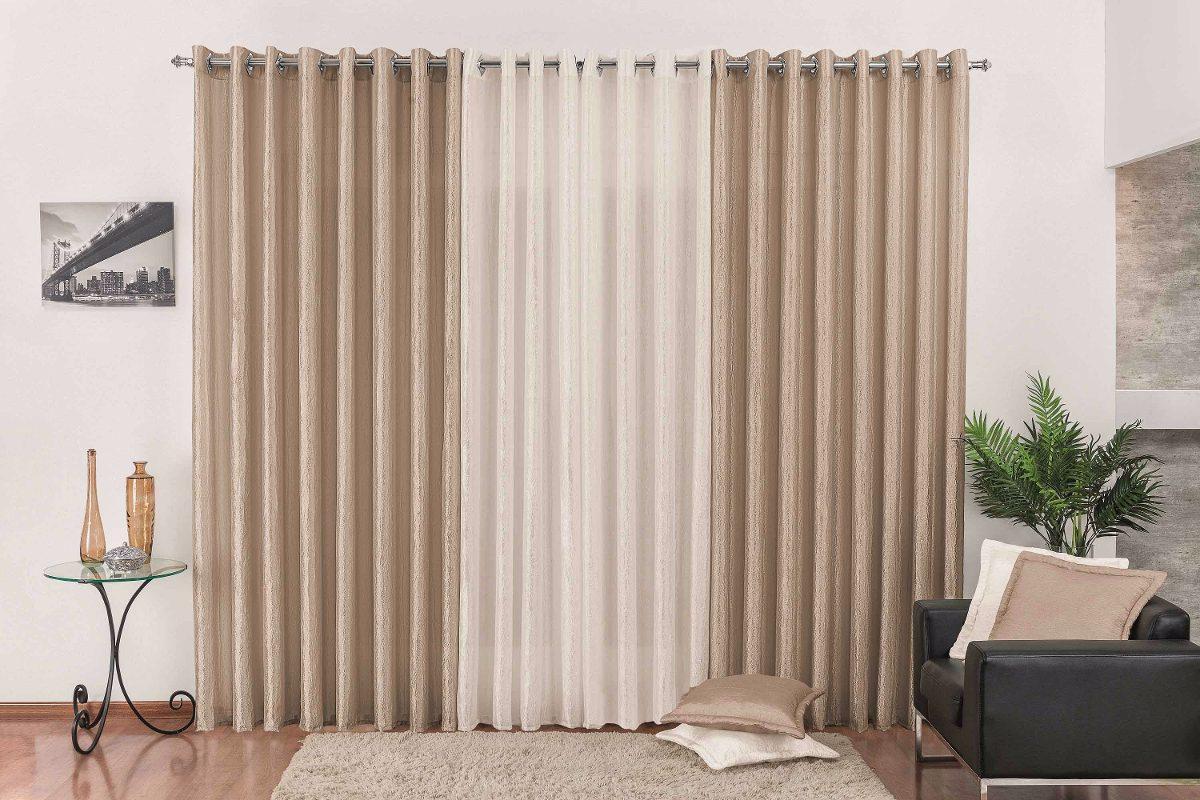 Cortina p sala avel palha em cetim 3mx2 5m p var o for Buscar cortinas para salas