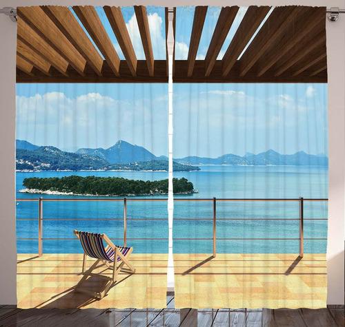cortina paisajes grafica de impresion digital deco