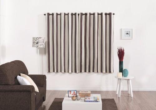 cortina paloma 2 metros p/ sala escritório cor tabaco