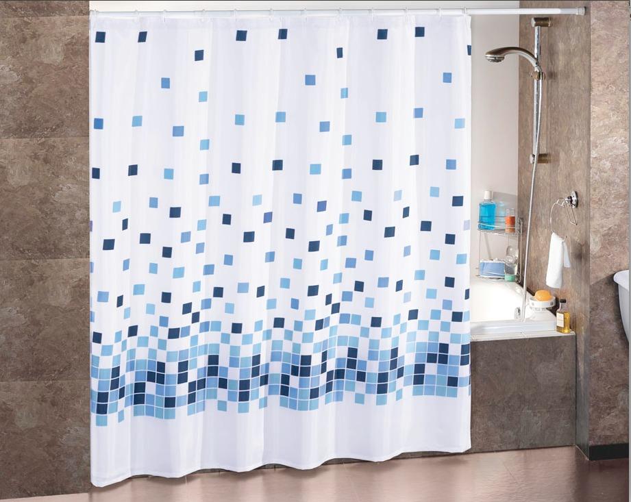 Cortina para ba o mosaico concord en mercado libre for Ganchos para cortinas de bano