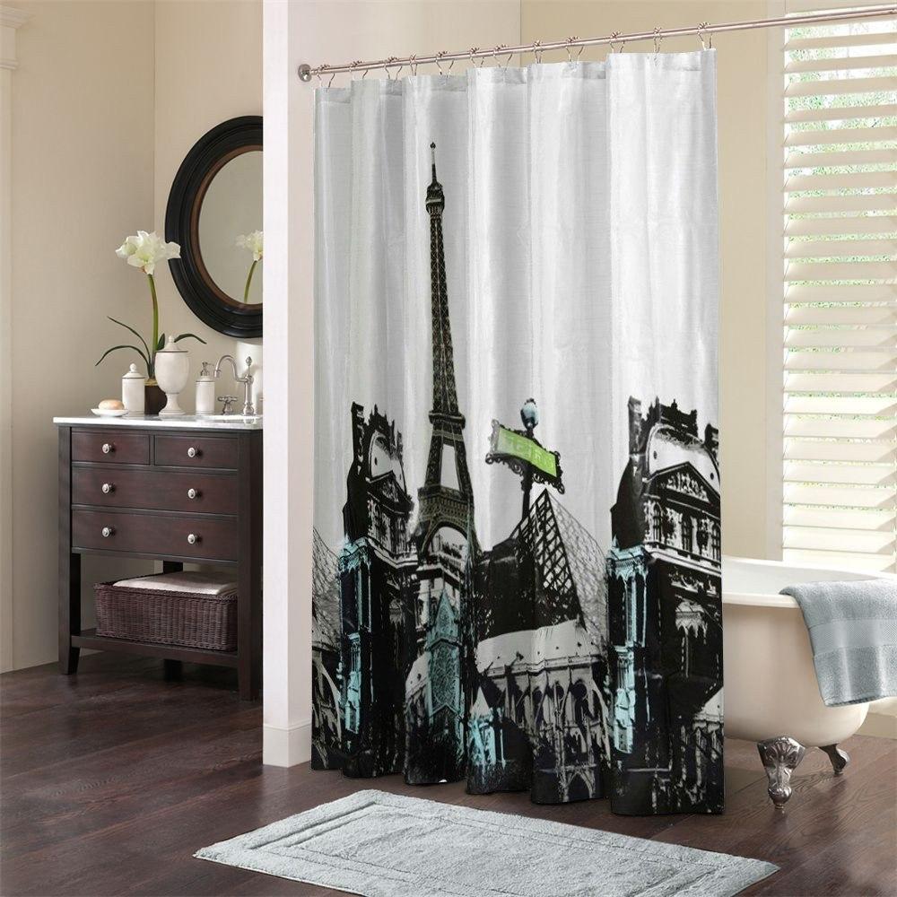 Cortina Para Ba O Morph Con Dise O Ciudad Paris