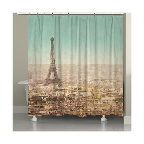 Cortina Para Ba O Eiffel Tower Landscape 3 En