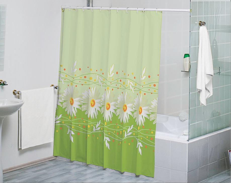 Cortina para ba o alegria verde concord en for Accesorios para cortinas de bano