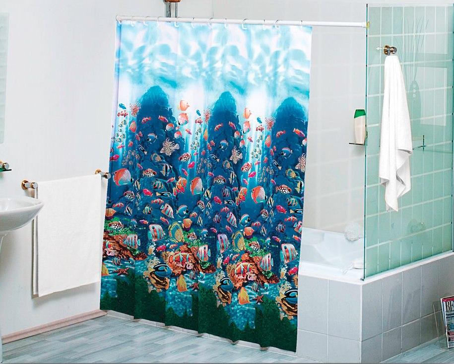 Cortina para ba o arrecife concord peces en for Accesorios para cortinas de bano