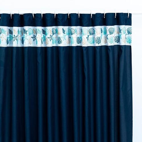 cortina para baño bordada arrecife vianney envio gratis