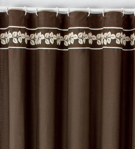 Cortina para ba o bordada casta a vianney envio gratis for Cortinas y accesorios de bano
