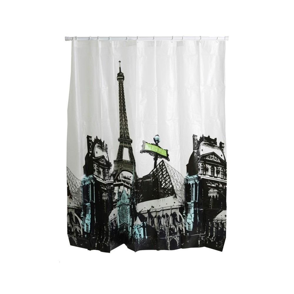 cortina para baño morph con diseño ciudad paris - $ 12.900 en