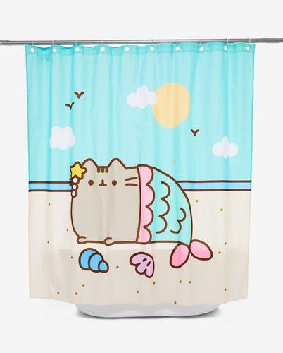 cortina para baño pusheen cat sirena original hottopic kawai
