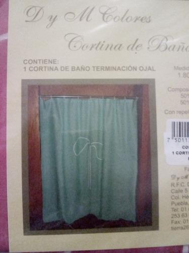 cortina para baño terminacion ojal