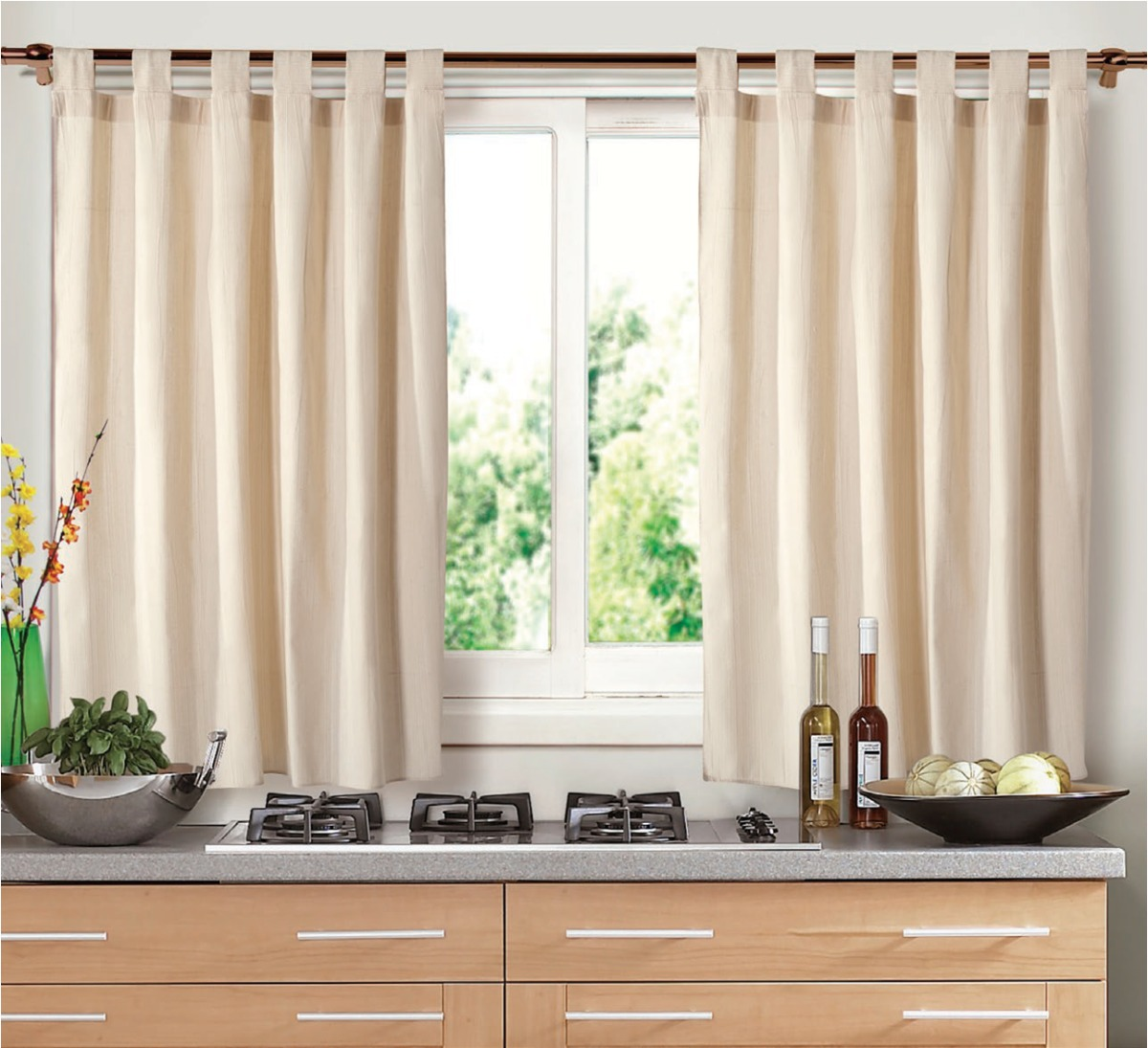 Tela cortinas cocina simple interesting morden tubo - Cortinas para cocina rustica ...