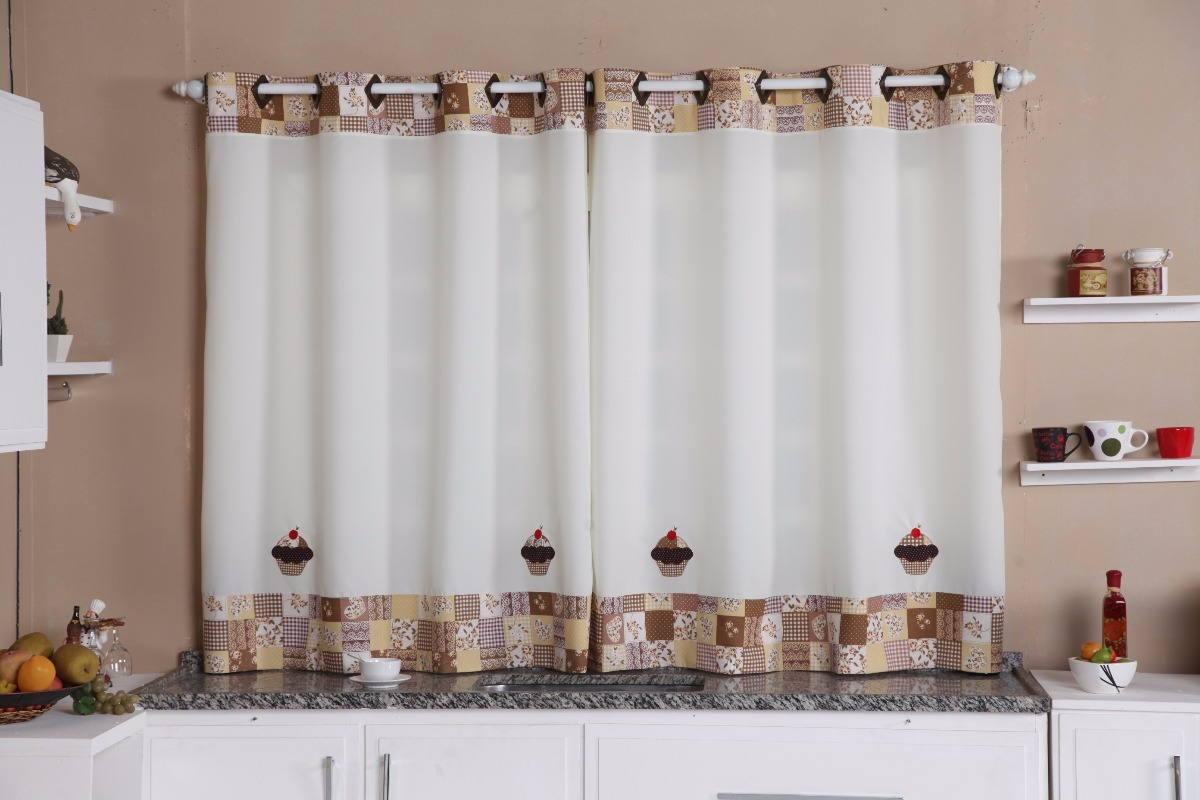 Cortina Para Cozinha Modelo Cup Cak 2 60m X 1 40m Ofert O R 32 90