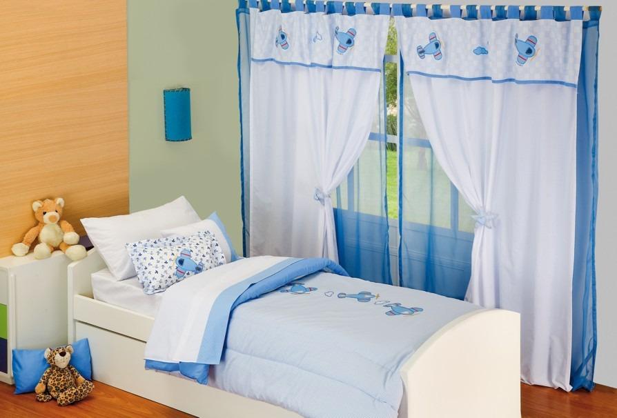 Cortina Para Dormitorio Infantil Con Faldon Pique Y Bordados - $ 399 ...