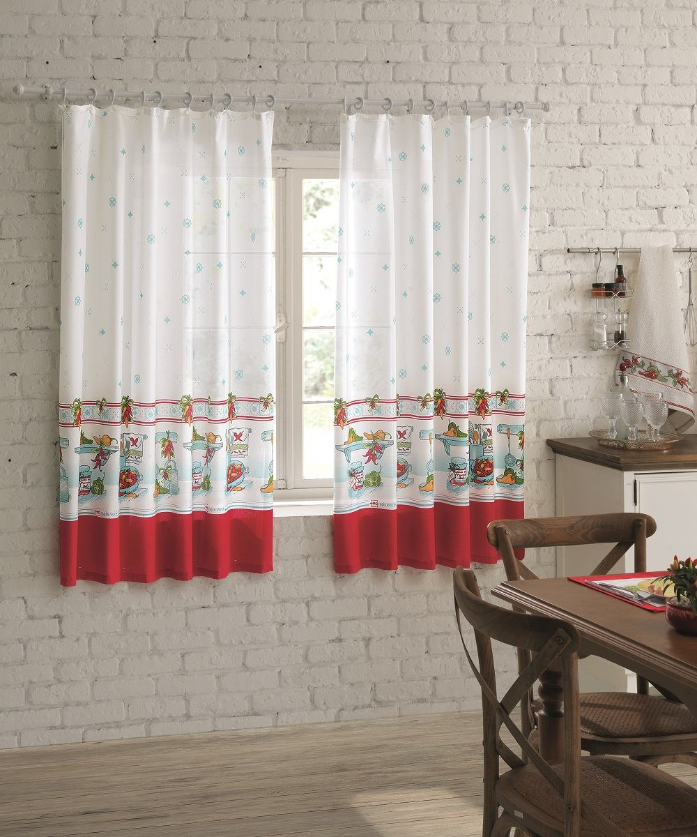 39d634c12 cortina para janela de cozinha dohler 2.00 x 1.50mts pimenta. Carregando  zoom.