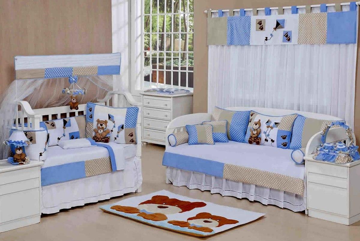 Cortina Para Quarto De Beb Menino Cole O Papai Urso 7p R 159  ~ Cortinas De Luxo Para Quarto E Quarto Amarelo E Branco