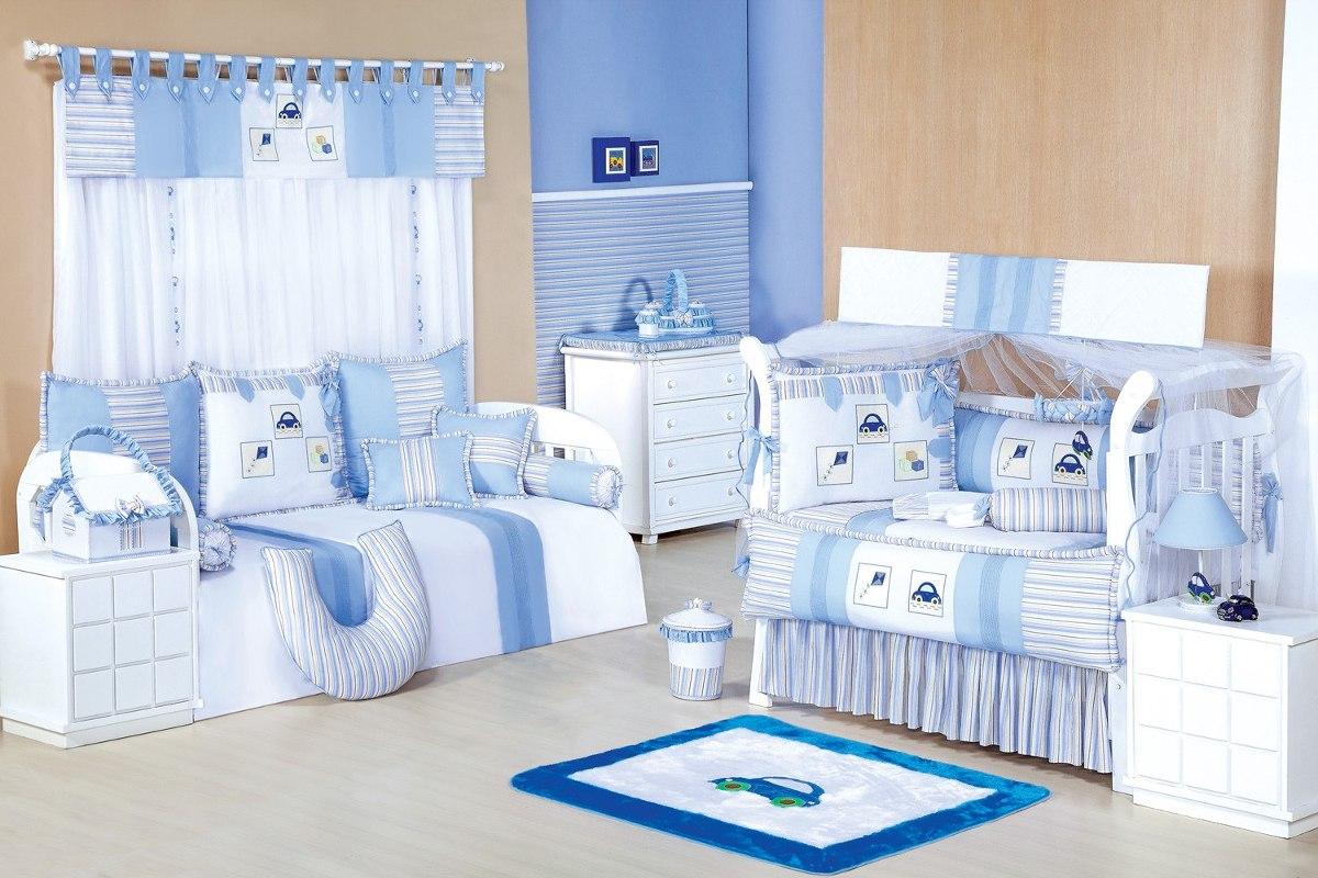 Cortina Para Quarto De Bebê Menino Conforto Diversão 7 Pç  R$ 201,46 em Merc