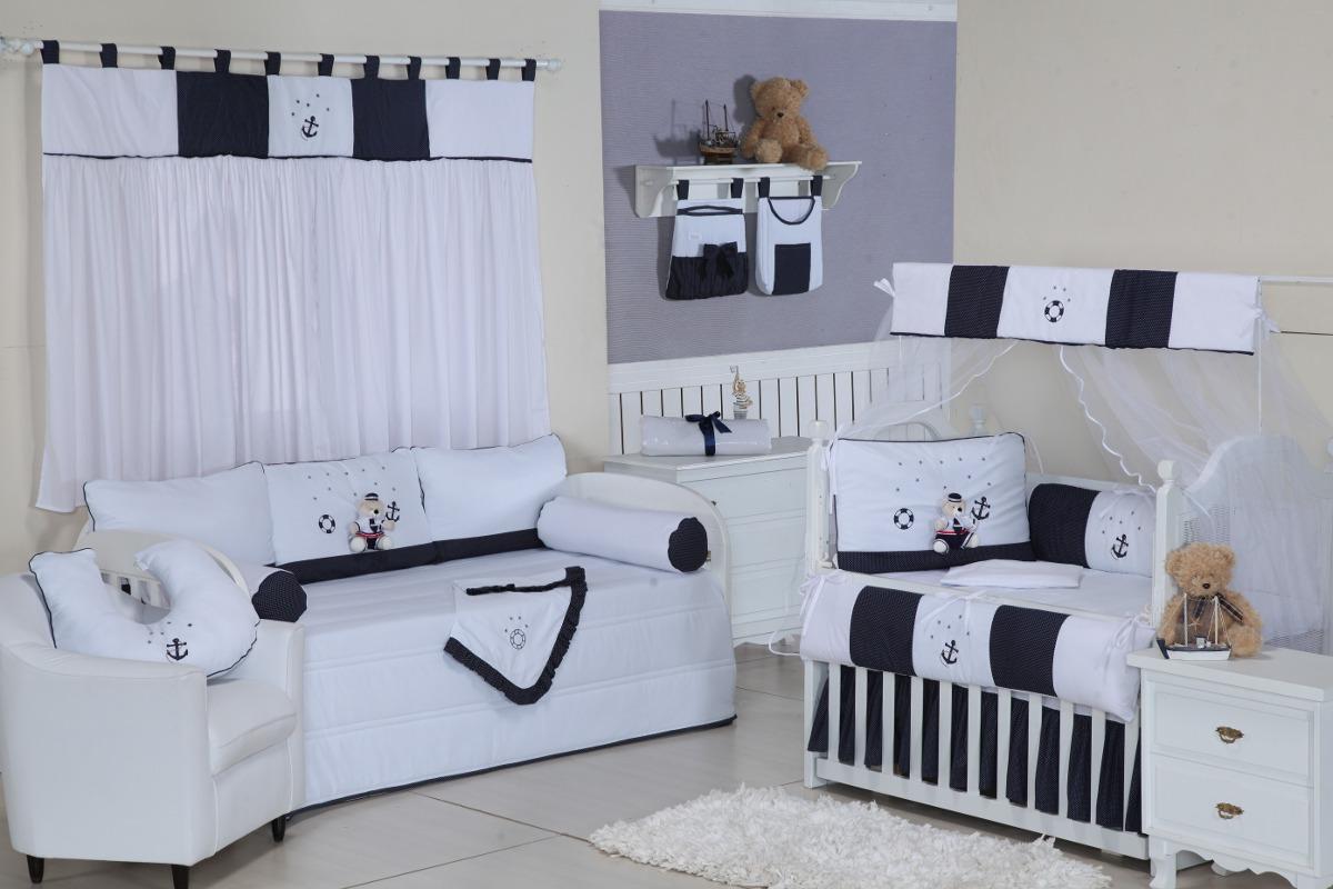 Cortina Para Quarto De Bebê Menino Marinheiro  R$ 129,99 em Mercado Liv