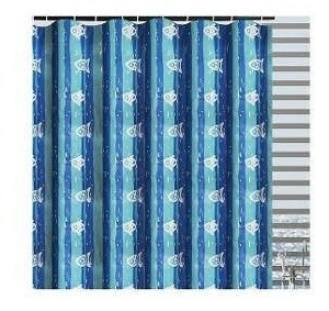cortina para regadera de peces azul betterware