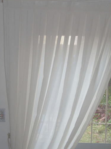 cortina para riel tela voile gasa rustico cabezal con tablas