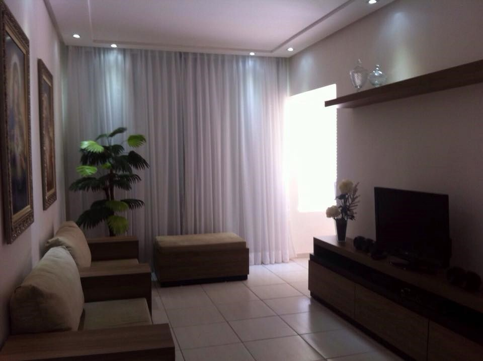 Cortina para sala de voil branca tamanho 3 50 x 2 70 l x for Cortinas elegantes para sala