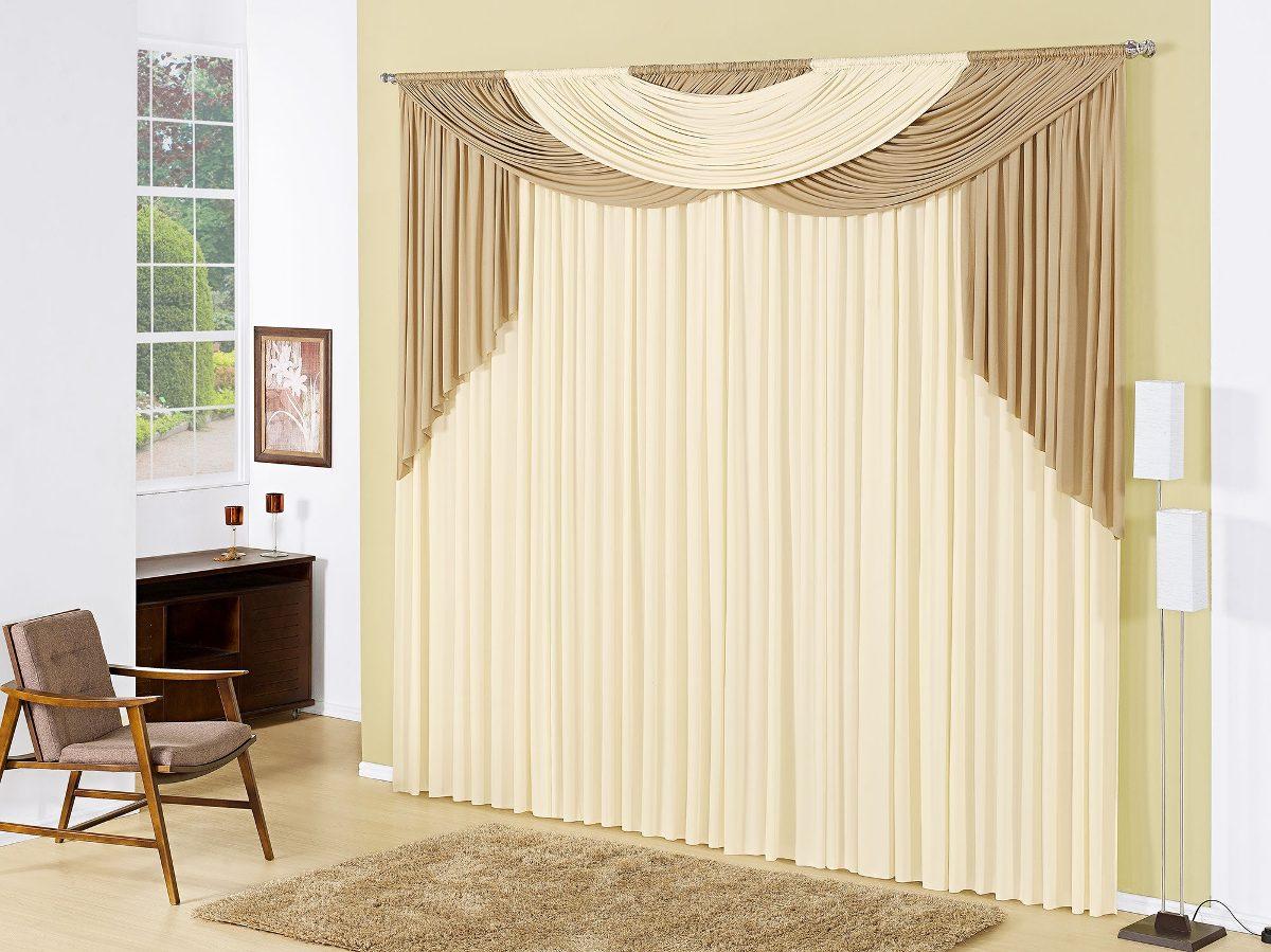 Cortina para sala laila x metros cor bege r - Buscar cortinas para salas ...