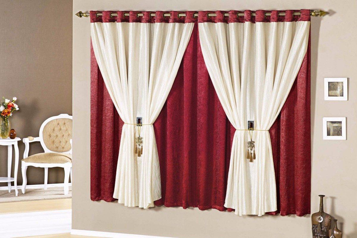 Cortina para sala moderna casa ou apto barcelona 15303 for Modelos de cortinas