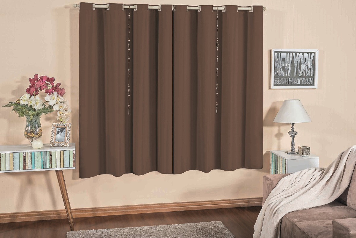 Cortina para sala quarto 10 cores dispon lvel kit var o for Cortinas verdes para sala