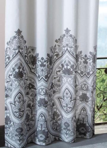 cortina para sala quarto 2,20x2,40m estampada varão sultan