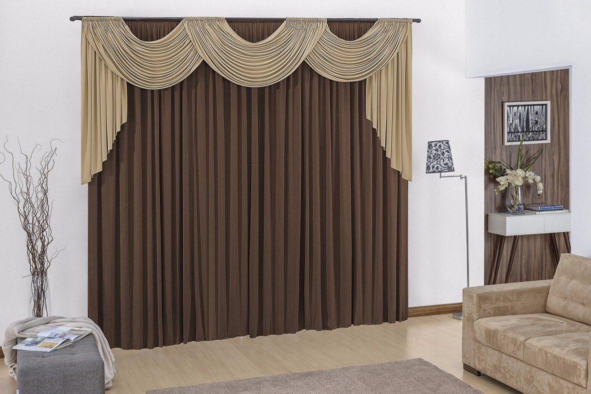 Cortina para sala tabaco avel 3mx2 80m p var o duplo r - Buscar cortinas para salas ...