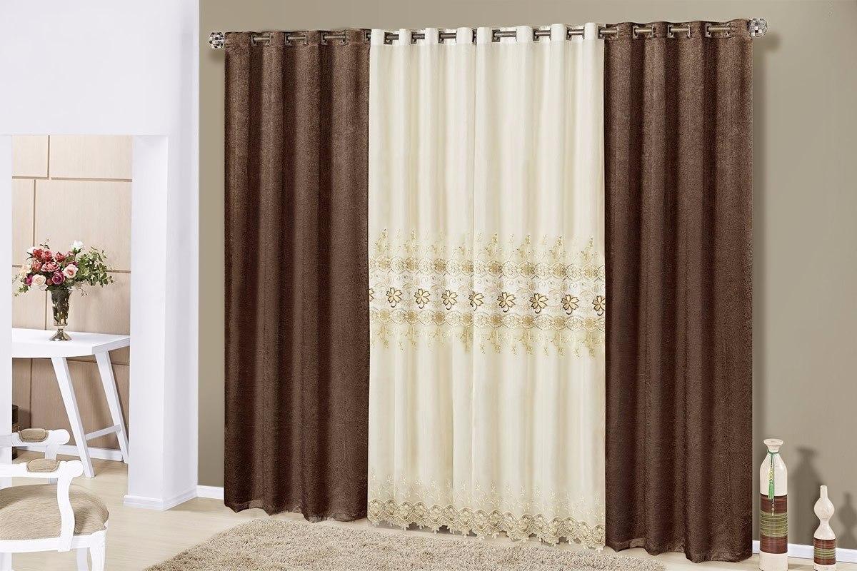 Cortina para var o sala quarto casa ou apartamento 15078 for Modelos de cortinas de salon